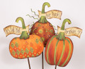 Set of 3 Pumpkins with sayings