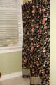 Cottage Rose Coll. Black Bath Curtain