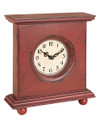 Country Red Wood Clock