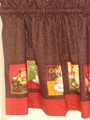 Coffee Cat Cafe Curtains-Tier Curtains 24""