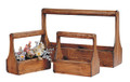 Set of 3 Wooden Boxes With Handles