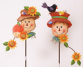 Set of 2 Sammie Scarecrow on Stakes