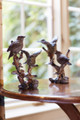 "The Set of 2 Birds on a Branch are made of polystone and measure 8.75"" tall. Perfect accents for a bookcase or end table. Price includes postag"