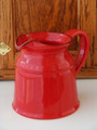Red Ceramic Pitcher
