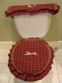 The Homedstead Collection Wine / Oatmeal  Commode Sets
