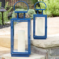 Essentials Marine Blue Lanterns set of 2