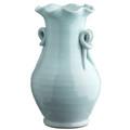 """14"""" Aqua Ceramic Vase"""