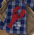 Lobster Applique Dishtowel