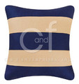 Navy and White Stripes Pillow