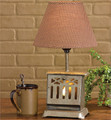 Old looking toaster lamp with night light