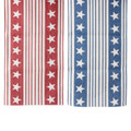 """Stars and Stripe Table Runner 72"""" Red"""