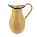 "Mustard -Colored Tin Pitcher-10.5"" tall"
