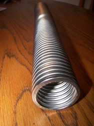 10 FT. of Stainless Heavy Duty Non-Interlocking Flex Pipe 1.25 Inch