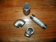 Stainless 1.5 inch 90 Elbow Sch 40 and 1.5 inch Pipe Nipple Combo