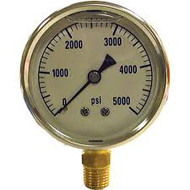 AR-1000 psi Glycerin filled Pressure Gauge (Bottom Mount)