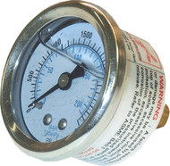 2000 psi Rear Mount Pressure Gauge AR3223B