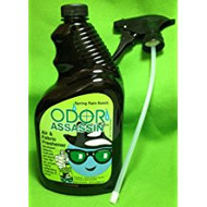 Odor Assassin Air & Fabric Odor Eliminator Spring Rain Scent - 32 Oz Spray Bottle (1)
