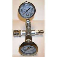Shark Pressure Washer Temperature and 10000 psi Pressure Gauge With QD attached [8.904-558.0]