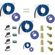 Blue Baron's Hose Set 165 ft (150 ft 2 in + 15 ft 1.5 in) Solution and Vacuum With Ball Valves [20140222]