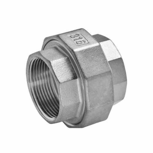 """3"""" inch Pipe UNION Split Coupling Stainless Steel FxF NPT CL150 Sch40 SS316"""