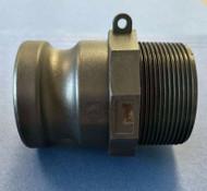 "2"" Inch Type F Polypropylene Male Camlock Adapter x Male Pipe NPT"