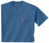 Embroidered Tee - Denim Blue