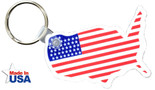 Mainland American Flag Key Ring