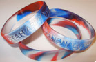 Patriotic Swirl Silicone Wristband