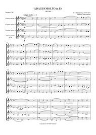 ADAGIO IN Eb (clarinet quartet) (download)