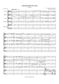 ADAGIO IN Eb (string quartet) (download)