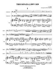 Adagio and Allegro from Trio Sonata, BWV 1039 (Download)