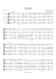 AVE MARIA (1852) (clarinet quartet) (download)