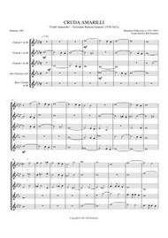 """CRUDA AMARILLI (""""CRUEL AMARYLLIS"""") (clarinet quintet) (download)"""