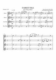 "FAIREST ISLE FROM ""KING ARTHUR"" (flute quartet) (download)"
