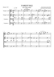 "FAIREST ISLE FROM ""KING ARTHUR"" (brass quartet) (download)"