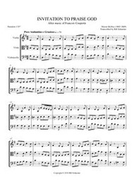 INVITATION TO PRAISE GOD (string trio) (download)