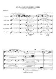 LA FILLE AUX CHEVEUX DE LIN (clarinet quintet) (download)