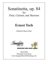 Sonatinetta, op. 84 (Flute, Clarinet, and Bassoon) (download)