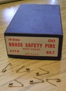 BRASS SAFETY PINS SIZE 00