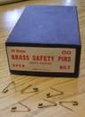 BRASS SAFETY PINS SIZE 00