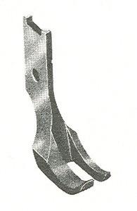 Product - REGULAR OUTSIDE WALKING FOOT WITH SMOOTH BOTTOM B1525-053-000 JUKI LU562 LU 563 (B1525-053-000)