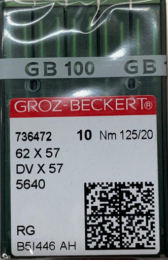 GROZ BECKERT NEEDLES 62 X 57 SIZE 120