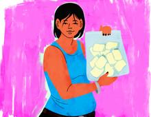 Mother donating breastmilk