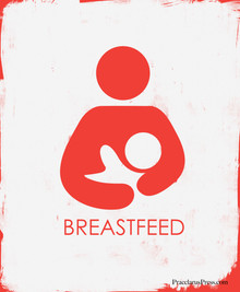 Free set of four posters featuring the International Breastfeeding Symbol