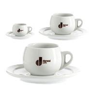 Danesi Caffe 2 x Espresso Cup / Saucer Free Shipping