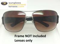 Custom Prada SPR 61G  Brown Gradient Non-Polarized Lenses (lenses are sold in pairs)