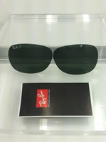 Authentic Rayban RB 2132 New Wayfarer Glass G-15 Green Polarized Lenses SIZE 52