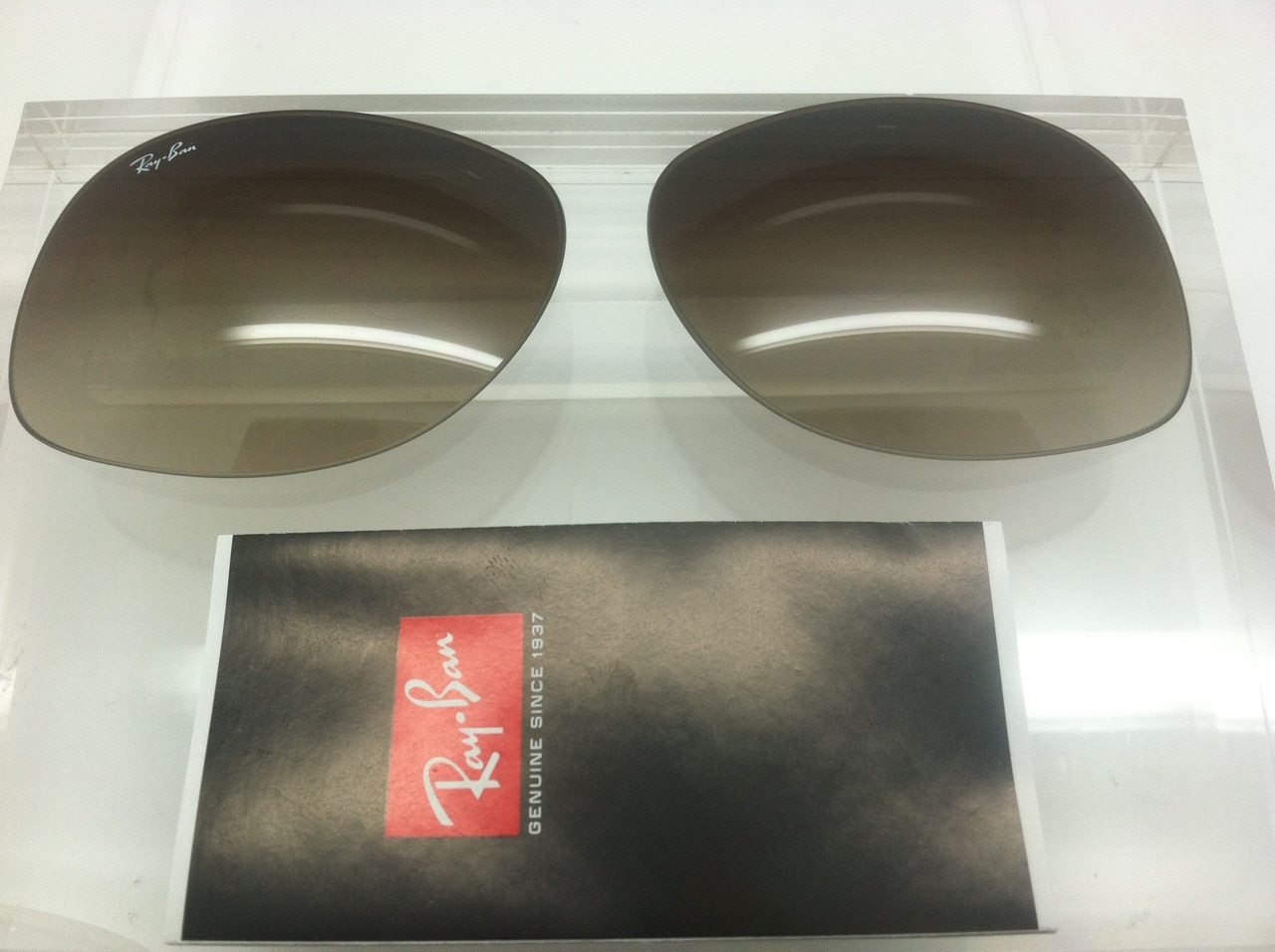855622af1b ... Authentic Rayban RB 3387 Brown Gradient Replacement Lens Pair Size 64.  Image 1. Loading zoom