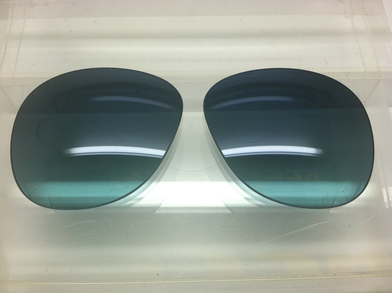 9091bebc005d1 ... Steve McQueen Blue Gradient Polarized Crystal Glass Lenses Size 54.  Image 1. Loading zoom