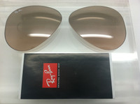 Authentic Rayban RB 3025 Aviator Brown & Pink w/ Silver Mirror Gradient  Lenses SIZE 58